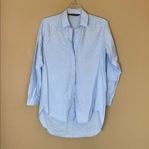 COPY - Zara embellished button down shirt